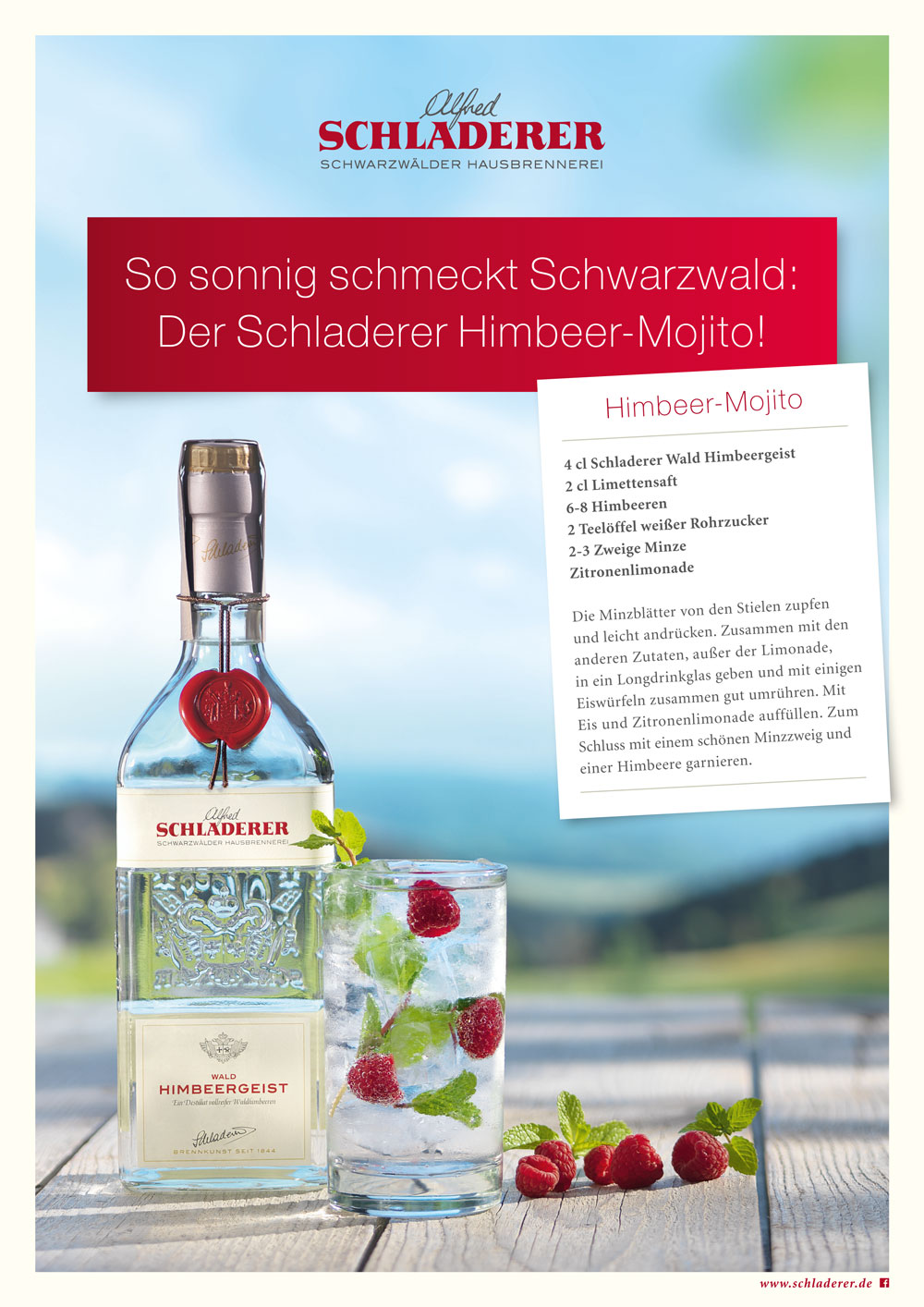 Schladerer Himbeer-Mojito